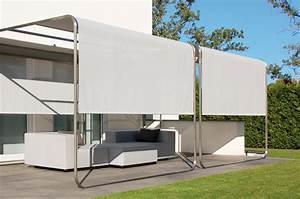 Design sonnensegel aufrollbar sicht sonnenschutz fur for Garten planen mit markise balkon