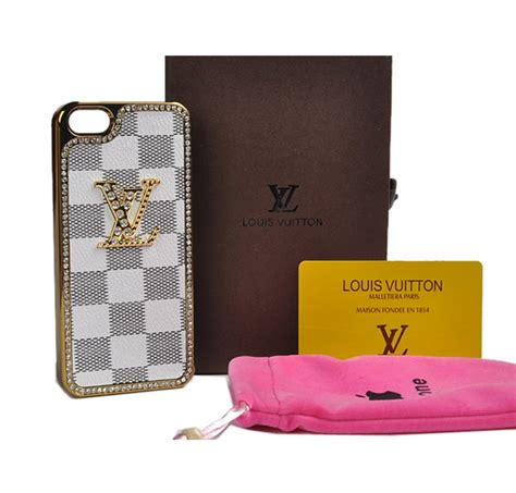 louis vuitton iphone 5s louis vuitton iphone 5 5s real leather lv damier azur 1961