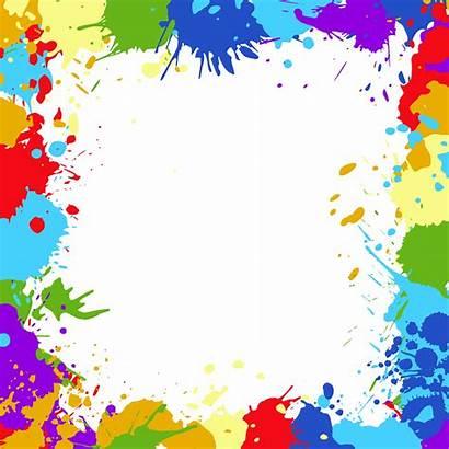 Colorful Frame Splatter Transparent Onlygfx Px Resolution