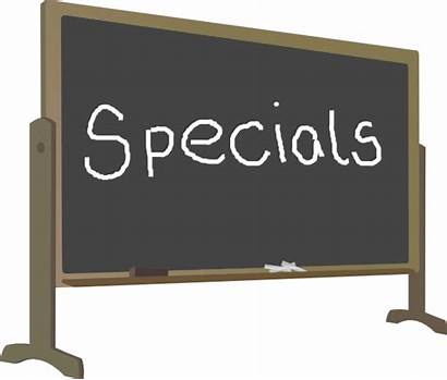Specials Board Clip Special Clipart Chalk Elementary