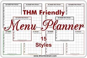 Recipe Sheets Templates Thm Editable Menu Planner 15 Styles Free Sheri Graham Getting Systems