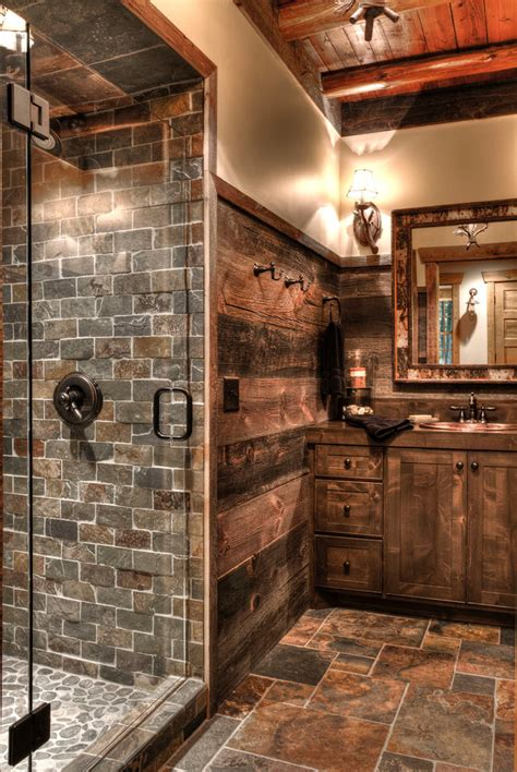 rustic bathroom design  decor ideas