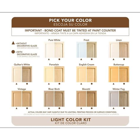 Rustoleum Cabinet Refinishing Kit Colors by Rust Oleum Cabinet Transformations Light Base Refinishing