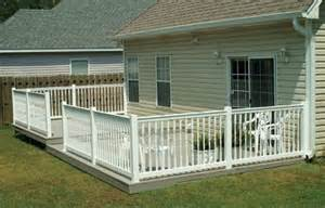 Pictures Of Patio Decks by Installing A Pvc Handrail For Your Deck Extreme How To