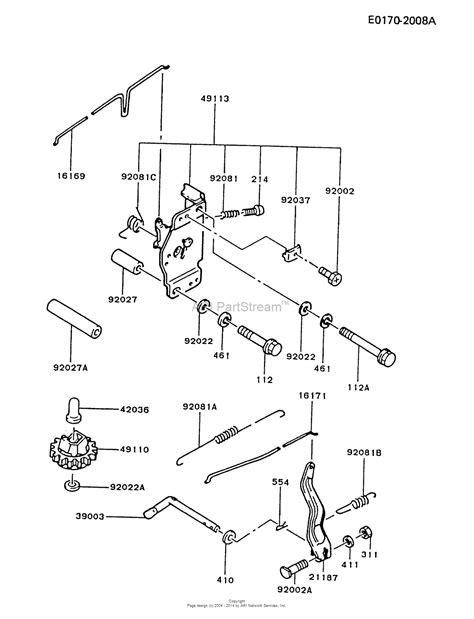 Kawasaki Fc540v Parts by Kawasaki Fc540v Bs07 4 Stroke Engine Fc540v Parts Diagram