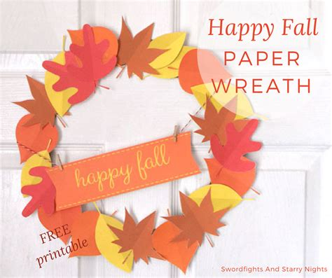 make your own fall wreath make your own happy fall paper wreath free printable cricut cut file