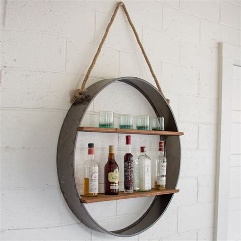 Outside Patio Bar Ideas by Kalalou Metal Circle Wall Shelf Cq6904