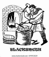 Blacksmith Anvil Vector Knife Hand Drawing Medieval Forges Shutterstock sketch template