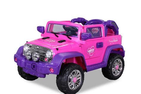 jeep  rose  volts voiture electrique pour fille  place