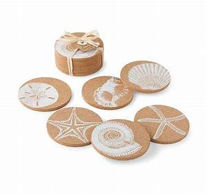Shell Online Shop : shell printed cork coasters best of everything online shopping ~ Orissabook.com Haus und Dekorationen