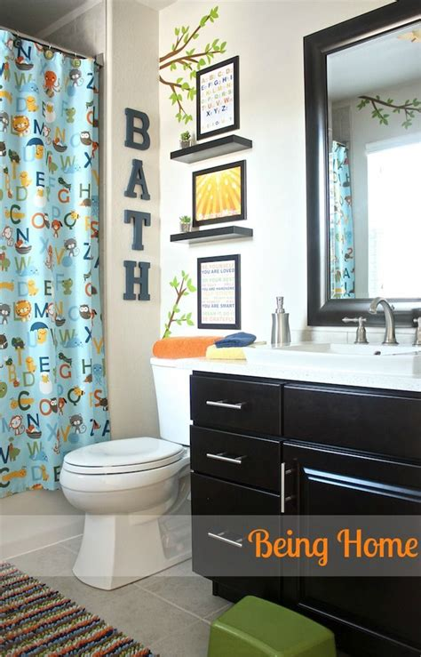 baby bathroom ideas being home boy bathroom makeover abc and nature theme