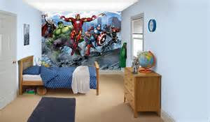 avengers bedroom in a box by walltastic wallpaper direct