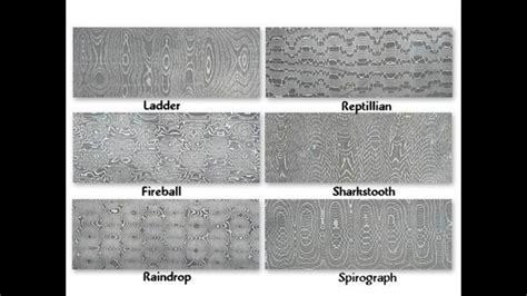 types  damascus steel patterns damascus steel metal