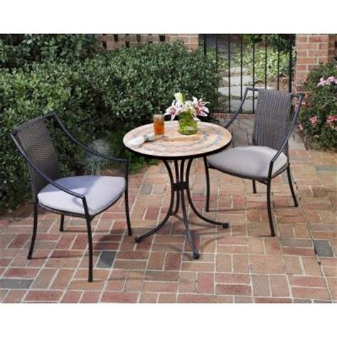 home styles terra cotta 3 tile top patio bistro set