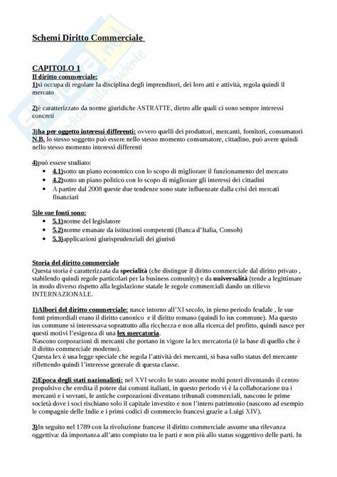 Dispensa Diritto Commerciale by Schemi Esame Appunti Di Diritto Commerciale