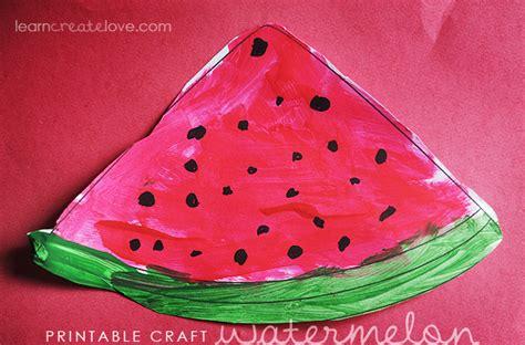 printable watermelon craft