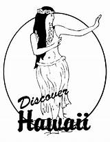Coloring Hawaii Hula Island Hoop State Dancing Ausmalbilder Popular Coloringhome sketch template