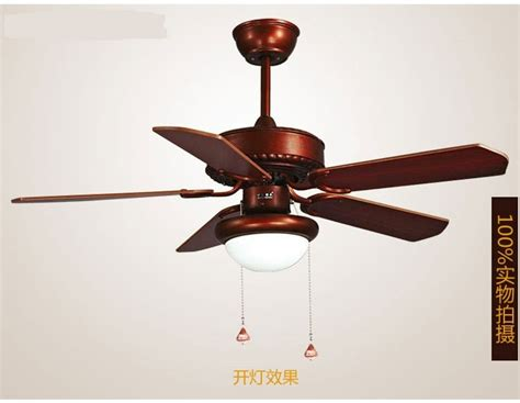 led light wooden leaf retro ceiling fans light fan indoor
