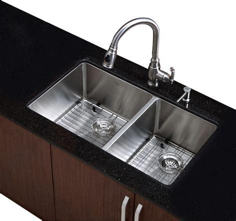 contemporary kitchen sinks undermount 33 in undermount 60 40 bowl stainless steel 5731