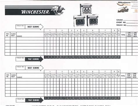 sporting clays scoresheet pictures to pin on