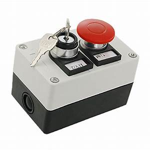 Key Lock on Off Switch Red Mushroom Push Button Station WD ...