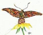 Painted Lady Butterfly Painting by Beverly Bronson
