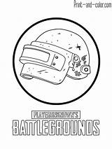Pubg Coloring Drawing Helmet Mobile Level Battlegrounds Playerunknown Lvl Hack sketch template