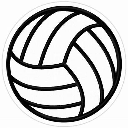Volleyball Sticker Redbubble Clipart Voleibol Drawing Stickers