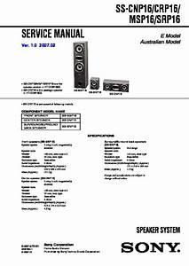 Sony Ht-ddw1600  Str-k1600 Service Manual