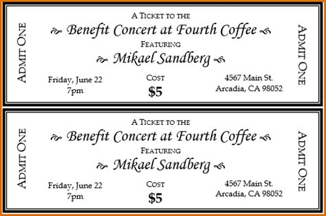 ticket template word authorizationlettersorg