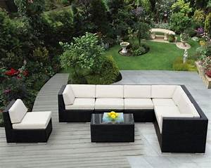 salon de jardin en resine avantages et photos inspirantes With tapis rouge avec canapé jardin résine tressée