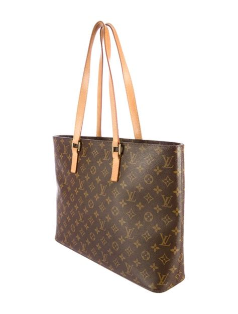 louis vuitton monogram luco tote handbags lou  realreal