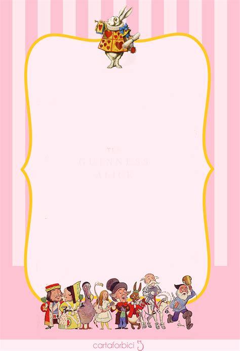 alice  wonderland birthday invitations bagvania