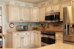 kitchen makeover in snow white milk paint topped with van With kitchen colors with white cabinets with good job sticker