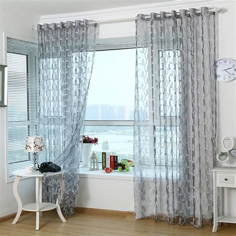 light grey curtains aliexpress buy 3d tulle sheer curtains for living