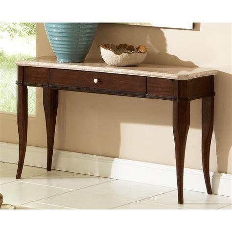 madaleine marble top brown sofa table