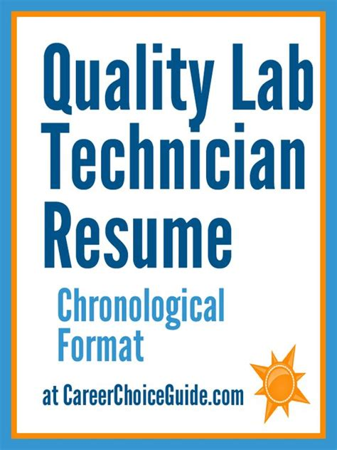 quality assurance lab tech sle resume resumes and