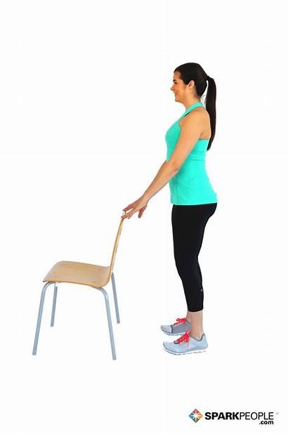 Calf Raises Chair Workout Exercises Exercise Raise