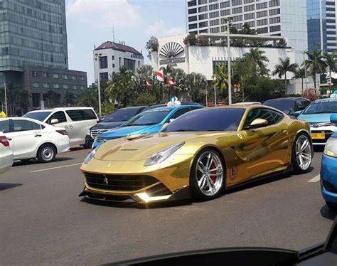 Gold Ferrari F12 Berlinetta