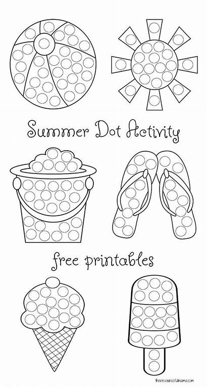 Dot Painting Printables Summer Activity Business