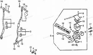 Honda Motorcycle 1983 Oem Parts Diagram For Fr  Brake Master Cyl