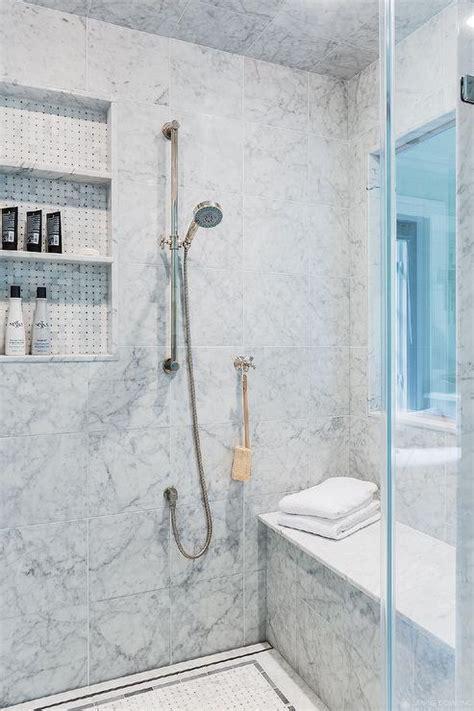 walk  shower  window transitional bathroom