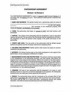 silent partner contract template sampletemplatess With silent partner contract template