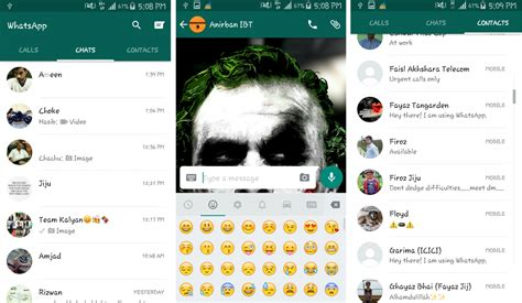 whatsapp updates android app with material design how to