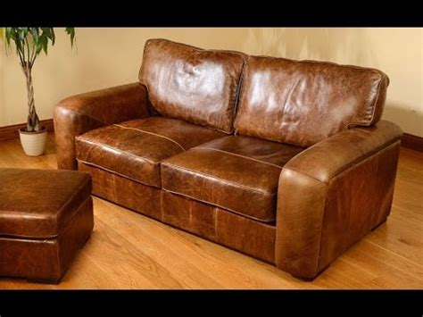Distressed Leather Couches distressed leather sofa with nailhead trim uk