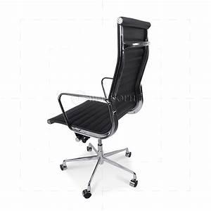 Eames Replica Deutschland : ea119 eames style office chair high back ribbed black leather ~ Sanjose-hotels-ca.com Haus und Dekorationen