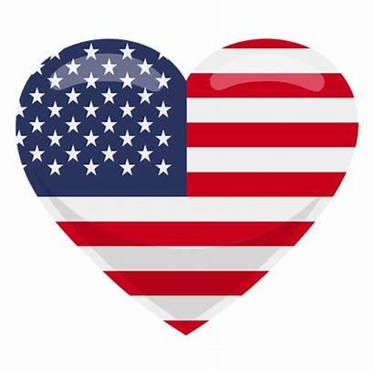 Flag Heart United States Transparent Svg Vector