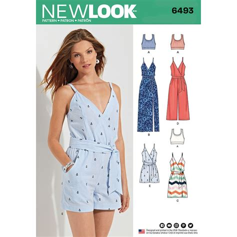 jumpsuit sewing pattern misses jumpsuit and dress in two lengths with bralette