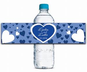 wedding water bottle labels custom self stick self With adhesive labels for bottles