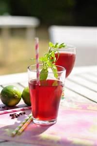 Boisson Rafraichissante : boisson rafraichissante l 39 hibiscus gingembre et citron ~ Nature-et-papiers.com Idées de Décoration